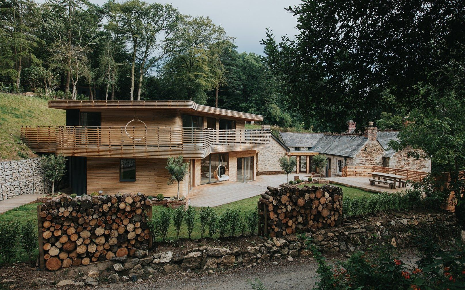 Beautifully renovated: the Gamekeeper's Lodge looks in keeping with the  steam bent home
