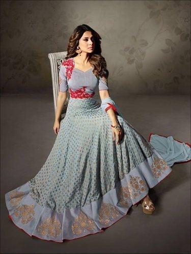 Latest Trendy Indian Designer Party Wear Indo Western Salwar Kameez