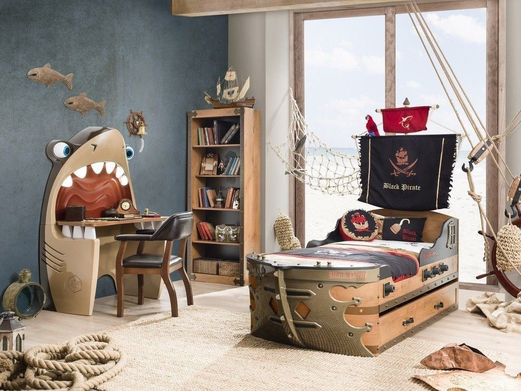 pirate bedroom decor wall decorating theme bedrooms manor childrens