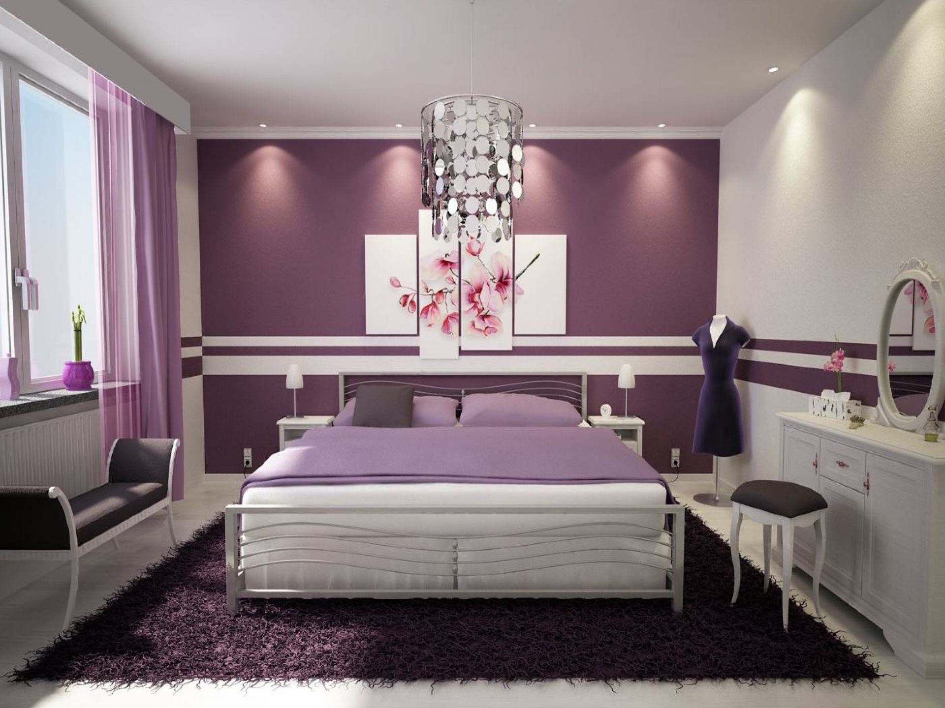 Cool bedroom decorating ideas for teenage girls Cuttingedgeredlands 17 Magnificent Purple Bedrooms That Are Worth Seeing 17 Magnificent Purple Bedrooms That