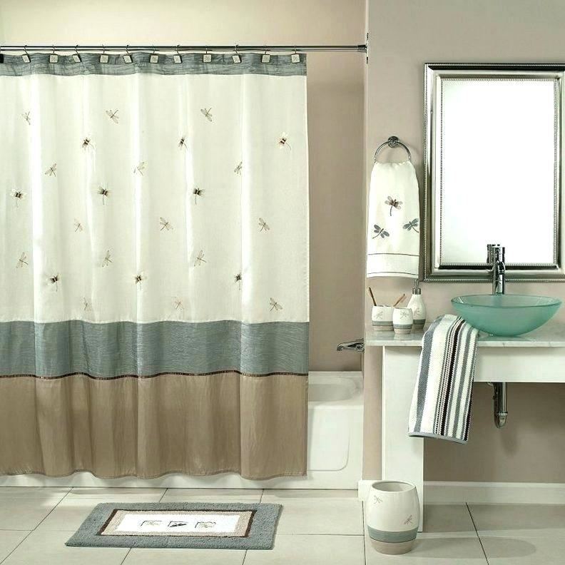 Marvelous Luxury Bathroom Ideas Including Purple Bathroom Shower Curtains  As Well As Grey Bathroom Wall Decoration Together With Black Wooden  Nightstand
