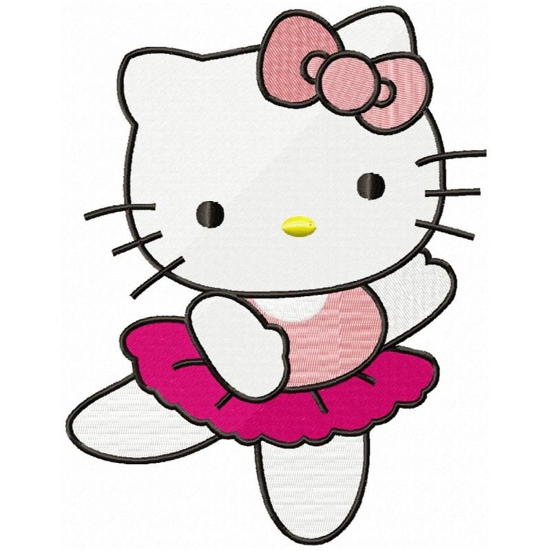 Hello kitty flowers Machine  Embroidery