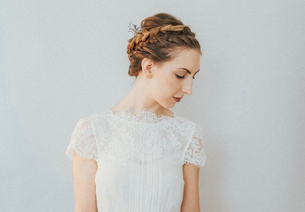 Saja Wedding, CH6545, Simple wedding dress, understated wedding dress, modern wedding dress, boho wedding dress, sleeved wedding dress, alternative wedding