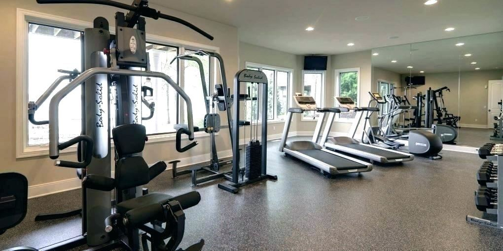 A finished basement is a great place for a home gym