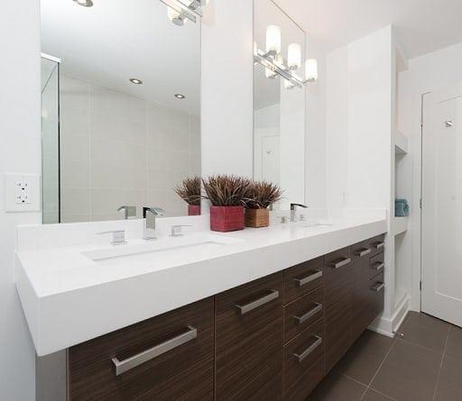 double vanity mirror interior bathroom