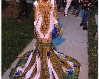 Black Girls Mermaid African Evening Dresses 2018 Yousef Aljasmi One Shoulder Plus Size Long Satin Cheap Arabic Design Formal Prom Party Gown Purple Evening