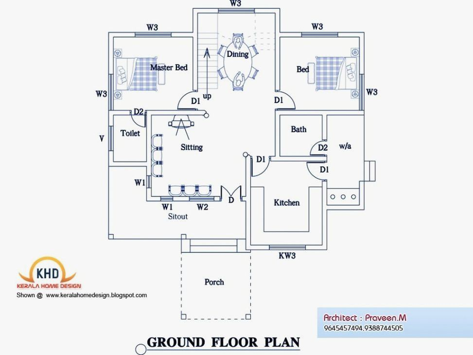 Indian House Design Plans Free New south Indian House Plans Free House  Design Plans