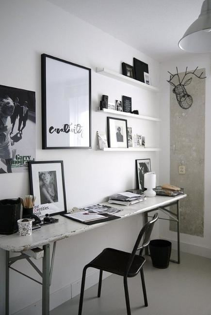 Home Decor – Living Room : White home with a black