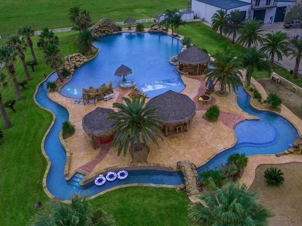 Backyard Lazy River Pool