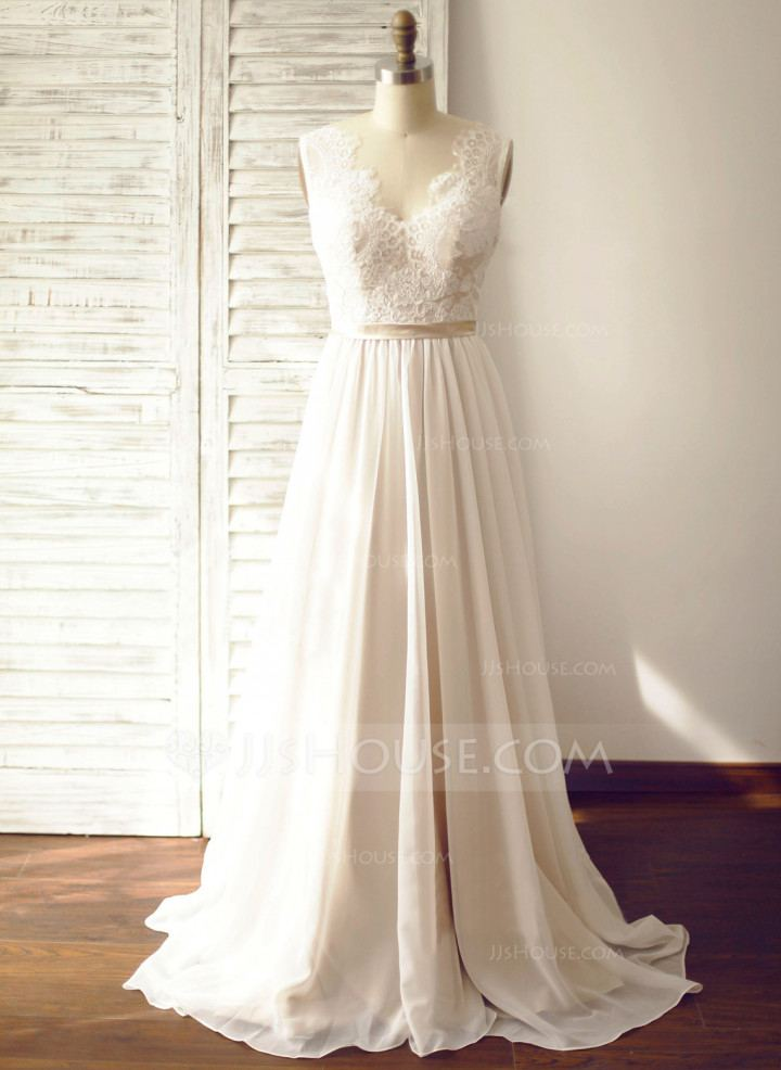 jjshouse wedding dress ball gown v neck chapel train tulle wedding dress  with sequins jjshouse wedding