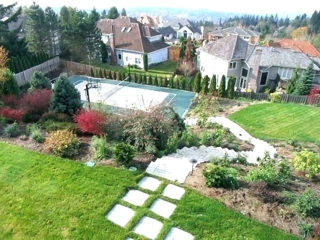 small backyard with hill landscaping ideas slope backyard small sloped backyard landscaping ideas