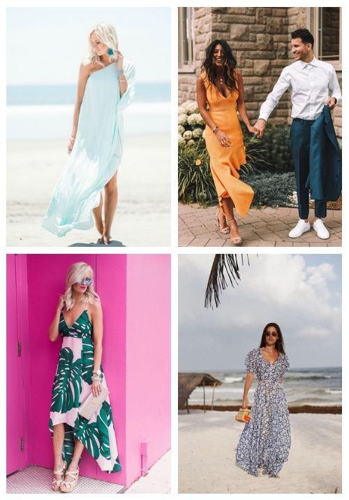 destination wedding guest dresses for fun, tropical elegance