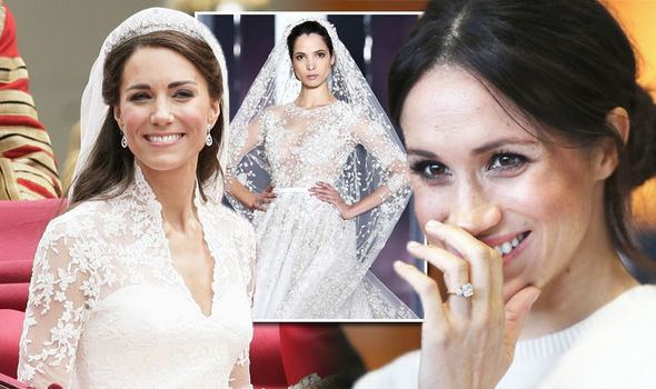 Clockwise from left: Kate Middleton at Prince Harry and Meghan Markle's wedding