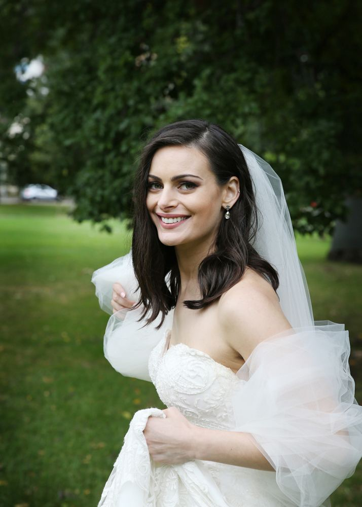 spaghetti strap overskirt wedding dress hadley