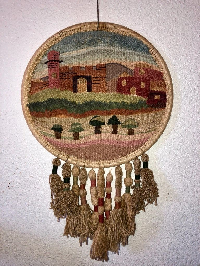 click embroidered wall hanging mexican