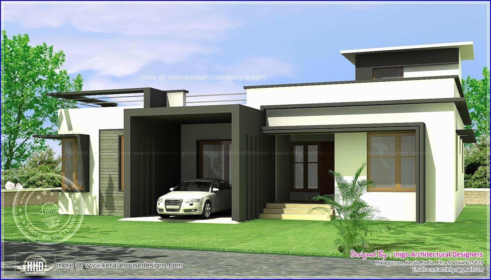Full Size of Single Storey Contemporary House Designs In Kerala Modern Plans  Fashion Trends Design Ideas