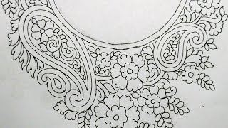 Neck embroidery designs for salwar kameez, kurthis, tops