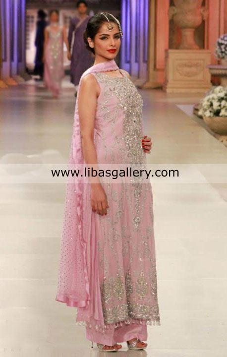 Pakistani fashion 2012 stylish party wear dresses designs