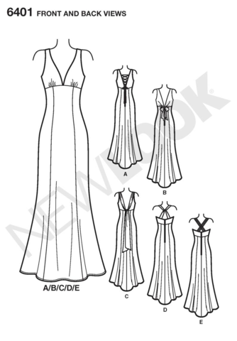 1950s BEAUTIFUL Formal Evening Gown Pattern BUTTERICK 5901 Susie Stephens  Design Straplesss Dress,Quick n Easy