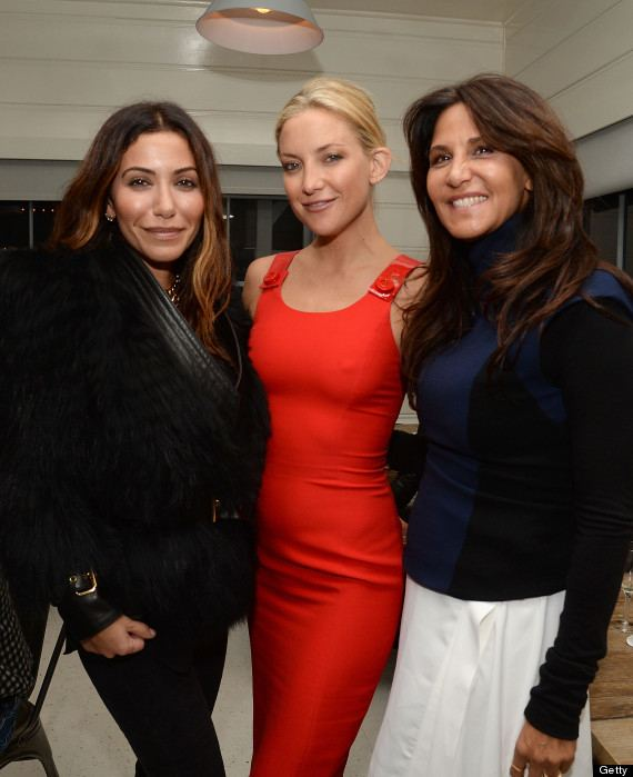 Kate Hudson with women designer