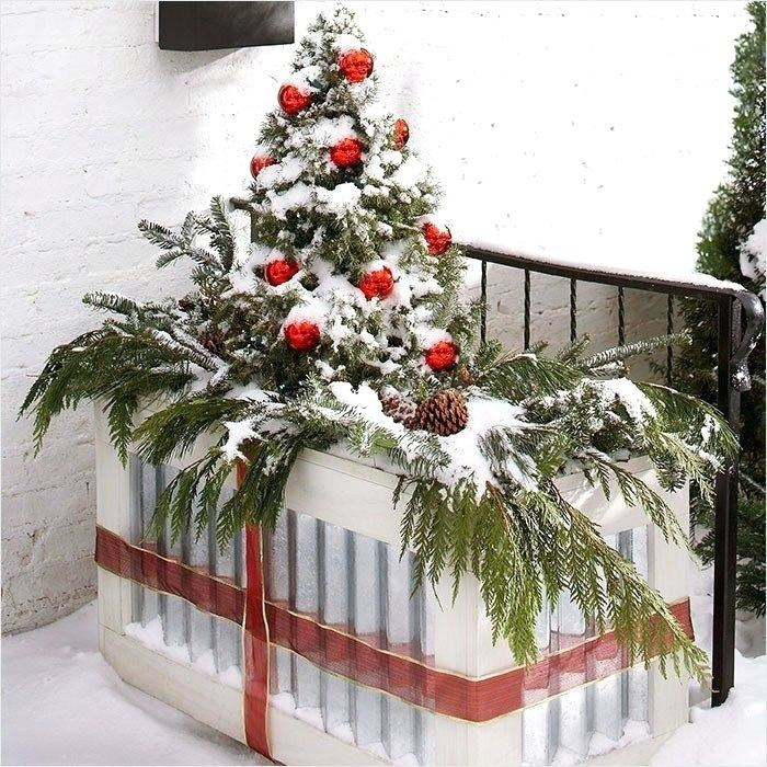 Stylish Christmas Decorating Ideas Porch Ceiling Rated 75 from 100 by 720  users; Beautiful christmas decorating ideas outdoor planters