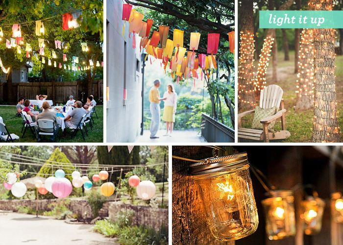 One of my favorite decor ideas with bright color decorations in a garden  settings