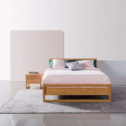 white queen size bed frame with storage modern design timber bedroom  furniture melbourne