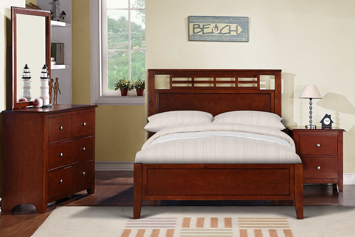 Furniture K Series Medium Oak King Nutmeg Bed Click To Enlarge