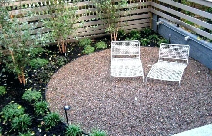 pebble patio ideas concrete