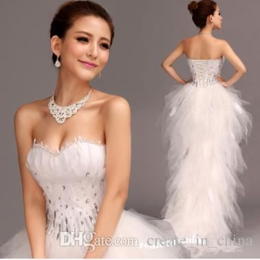 Fashion Spaghetti Strap Corset Back Ruffle Tulle Short Front Long Back High  Low Prom Dress $190