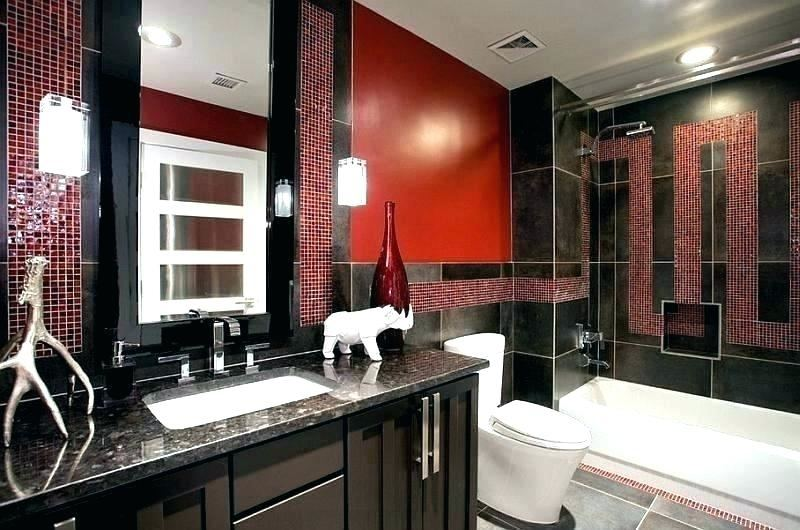 red black white bathroom ideas and gray decorating id