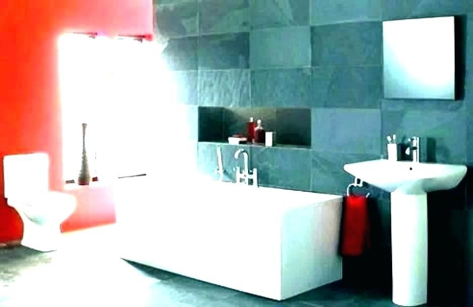 red and black bathroom ideas