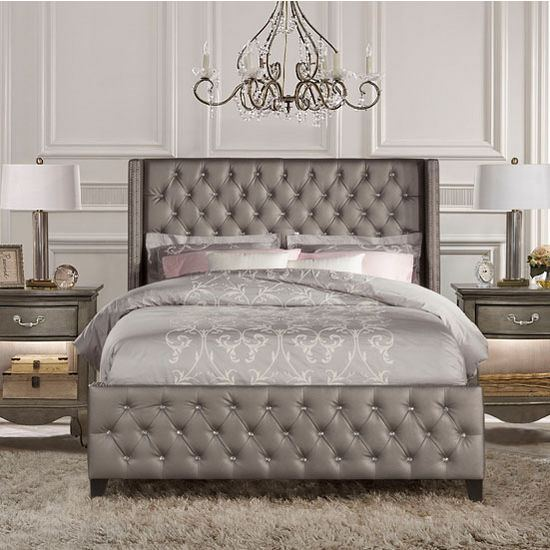 com: Hillsdale Furniture 1638BQRA Amber Bed Set, Queen, Pewter:  Kitchen & Dining