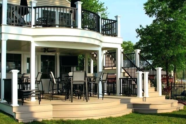 breathtaking two story deck ideas plans covered home design second man  tells with of cards pl