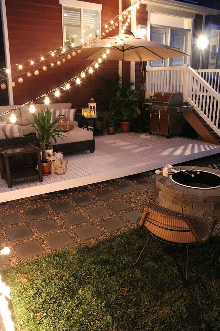 This would be an awesome layout for a brick/stone patio!