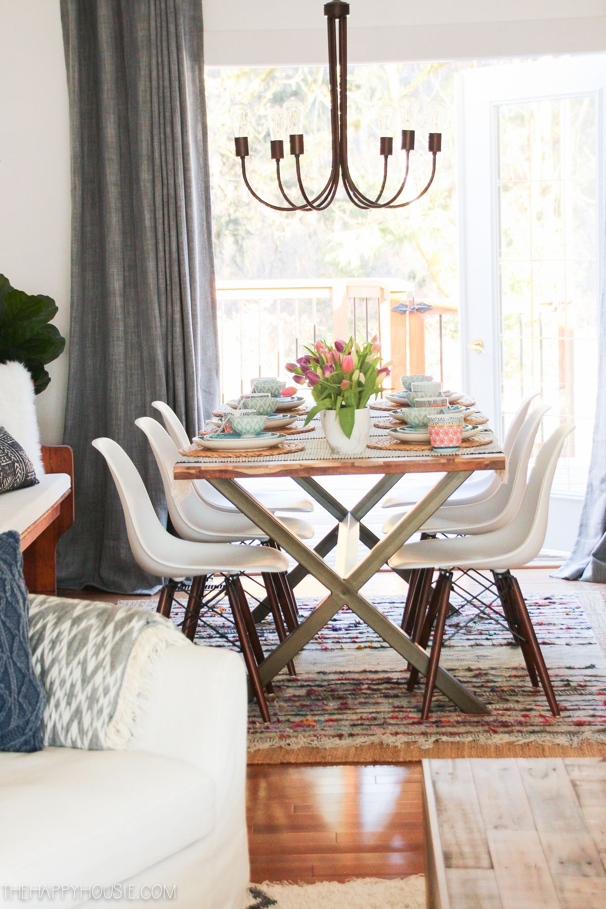 Today I am sharing our Spring dining room