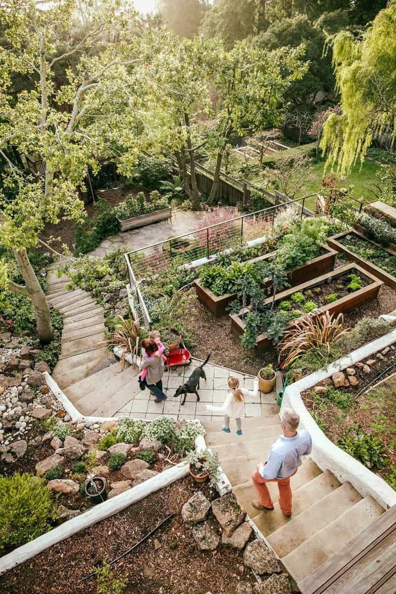 backyard hill landscaping ideas sloped yard landscape design garden  breathtaking for sloping steep ba