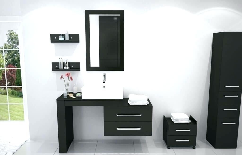 small black vanity small bathroom remodel budget black vanity sink cabinet  natural throughout chic design ideas