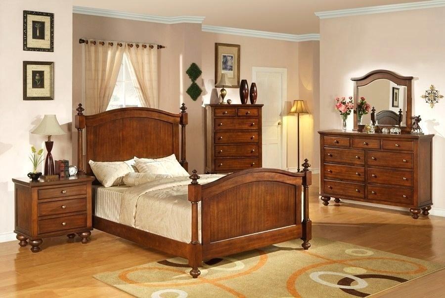 unfinished wood bedroom