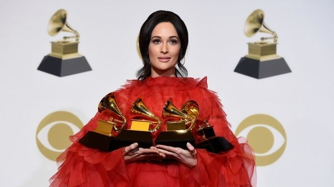 Country singer Kacey Musgraves won album of the year for Golden Hour