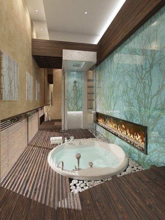 3 reasons to create a bathroom with a fireplace