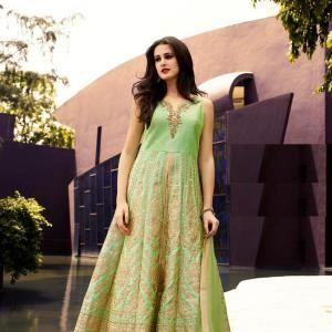 gown styled dresses, short shirt and trouser with heavy flare and  saree