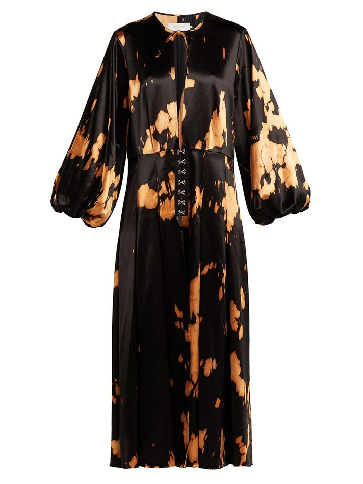 CARMEN MARCH Tie Dye Wrap Dress