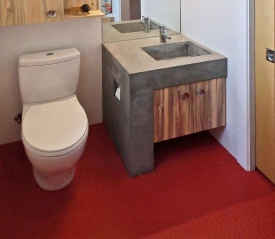 studded rubber flooring bathroom
