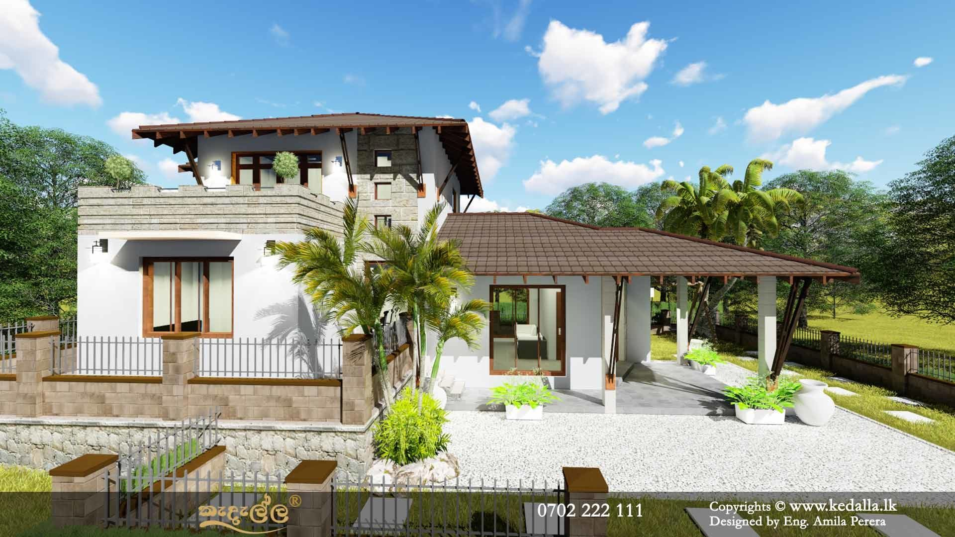 Two Storey Asian House at Antique by arimankodi