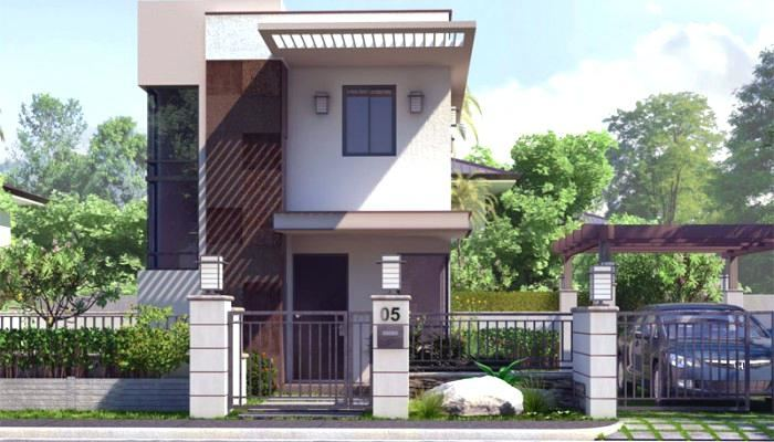 Small two storey unit house elevations and plans