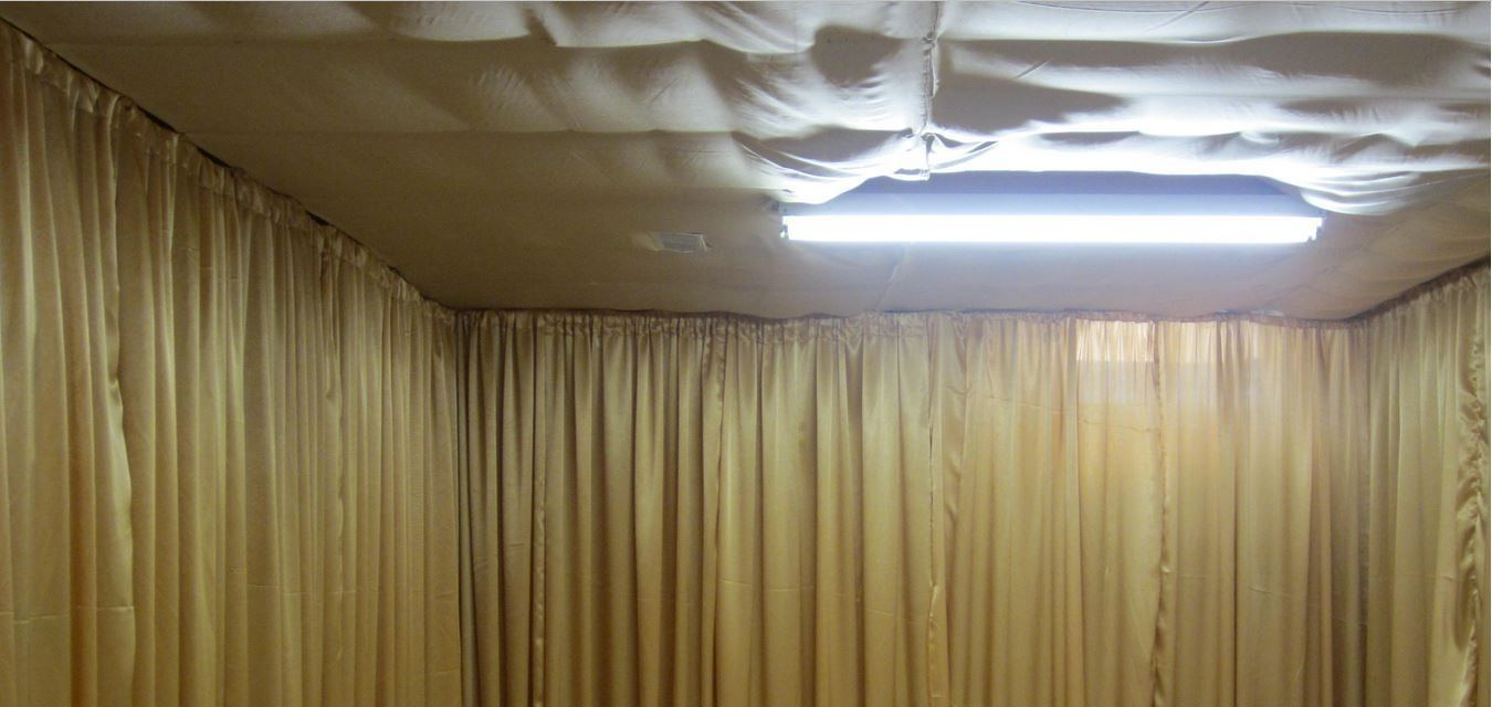 fabric ceiling ideas stunning decorating on basement by bedroom unfinished  and material decoration