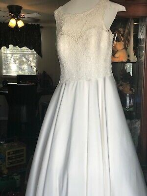 Ivory Size 8 Justin Alexander WEDDING DRESSES