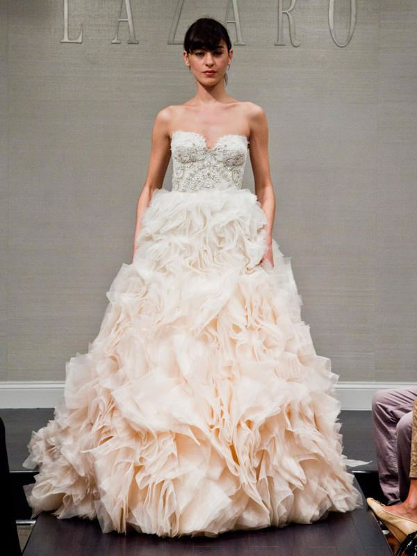 Wedding Dress Ideas, Designers & Inspiration : Beaded fit and flare with long sleeves | Justin Alexander | trib