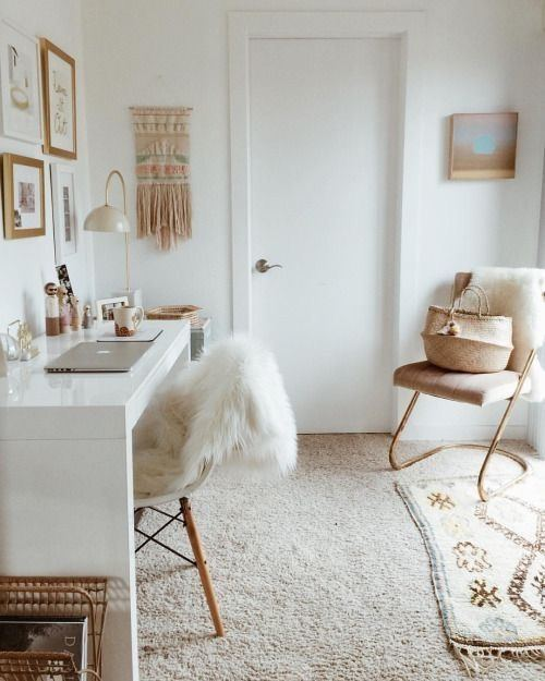 Teen bedroom decorated with gray and white